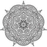Svartvit mandala Royaltyfri Fotografi