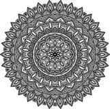 Svartvit Mandalamodell Royaltyfri Bild