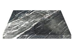 svartvit marmorplatta eller ark för isolerad konstruktion Arkivbild