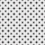 Svartvit monokrom blommar den grafiska modellen Royaltyfri Fotografi