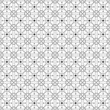 Svartvit monokrom geometrisk grafisk modell Arkivfoto
