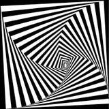 Svartvit optisk illusion Det kan vara nödvändigt för kapacitet av designarbete Visuell konst Arkivfoton