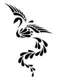 Svartvit Phoenix stam- tatuering royaltyfria foton