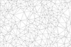 Svartvit polygon för bakgrund. Arkivbild