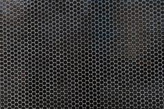 Svartvit prickig rastrerad vektorbakgrund Arkivfoto