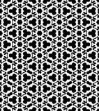 Svartvit repetitionmodellvektor och sömlös bakgrundsbild Arkivfoto