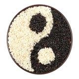 Svartvit rice Royaltyfria Foton