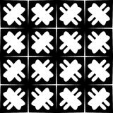 Svartvit sömlös geometrisk modell royaltyfria bilder