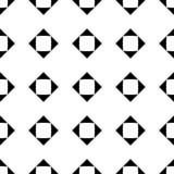 Svartvit sömlös geometrisk modell arkivbild