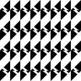 Svartvit sömlös geometrisk modell arkivfoto