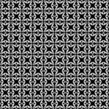 Svartvit sömlös geometrisk modell royaltyfri bild