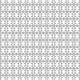 Svartvit sömlös geometrisk modell för abstrakt vektor Royaltyfri Foto