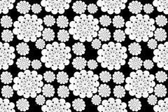 Svartvit sömlös modell för blomma royaltyfri illustrationer