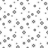 Svartvit sömlös modell för diamanter Arkivbilder