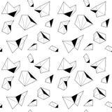 Svartvit sömlös modell med polygonal former Royaltyfria Bilder