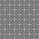 Svartvit sömlös upprepad geometrisk modellbakgrund för dekorativ blomma Textil böcker, stock illustrationer