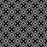 Svartvit sömlös upprepad geometrisk modellbakgrund för dekorativ blomma Textil böcker, str royaltyfri illustrationer