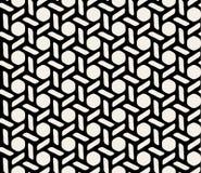Svartvit sexhörnig sömlös geometrisk modell för vektor Royaltyfria Foton