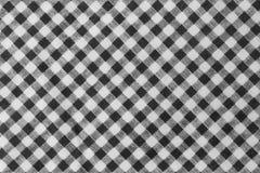 Svartvit skogsarbetare Plaid Seamless Pattern Fotografering för Bildbyråer
