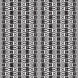 Svartvit sömlös optisk vektor för konstmodellbakgrund Royaltyfri Fotografi