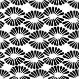 Svartvit stämpelmodell för sömlös vektor med retro blommor stock illustrationer