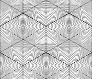 Svartvit symmetrisk sömlös modell för kontrast med interwe Arkivfoton