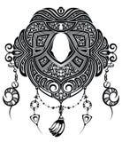 Svartvit tatueringdesign ocks? vektor f?r coreldrawillustration fotografering för bildbyråer