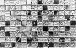 Svartvit tegelplattabakgrundstextur Arkivfoton