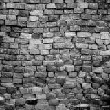 Svartvit tegelstenvägg Royaltyfria Bilder