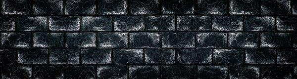 Svartvit tegelstenvägg - brett mörkt - backgro för grå färgstenkvarter vektor illustrationer