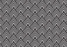 svartvit textur för art déco Geometrisk modellbakgrund Royaltyfria Bilder