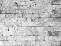 Svartvit textur för bakgrundstegelstenvägg fotografering för bildbyråer