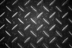 Svartvit textur för metallplatta Royaltyfri Foto