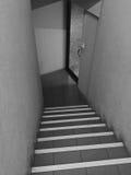 Svartvit tom korridor Royaltyfri Fotografi
