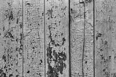 Svartvit träplankabakgrund med gammal brun målarfärg fotografering för bildbyråer