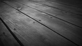 Svartvit trävideo för rörelse för golvglidaredocka stock video