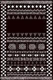 Svartvit traditionell afrikansk mudclothtygmall för ett baner, vektor Royaltyfri Fotografi