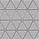 Svartvit triangel stock illustrationer