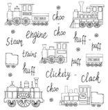 Svartvit uppsättning för vektor av retro motorer vektor illustrationer