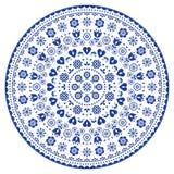Svartvit vektorkonst för Mandala, australisk prick som målar den dekorativa designen, bohemisk stil för infödd folkkonst Royaltyfria Foton