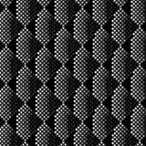 svartvita band 3D med idérik textur för PIXELkonst Royaltyfri Foto