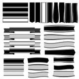 Svartvita band och baner vektor illustrationer
