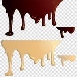 Svartvita chokladdroppander stock illustrationer