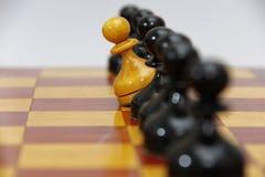 Svartvita diagram för schack Arkivbilder