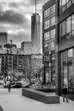 Svartvita Freedom Tower Fotografering för Bildbyråer