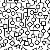 Svartvita geometriska mönstrar seamless Arkivfoton