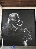 Svartvita grafitti arkivfoto