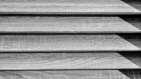 Svartvita horisontallinjer wood textur Arkivfoton