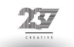 237 svartvita linjer nummer Logo Design stock illustrationer