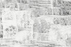Svartvita monokromma teckningar och texturer royaltyfri illustrationer